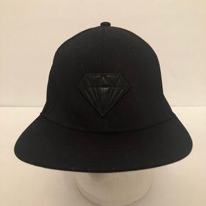 5ffea51d709 Beautiful Giant Hat Black Leather Diamond Graphic